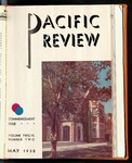 Pacific Review  May 1938 (Commencement Issue)