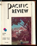 Pacific Review June 1938 (Summer Issue) by Pacific Alumni Association
