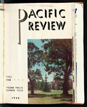 Pacific Review August 1938 (Fall Issue) by Pacific Alumni Association