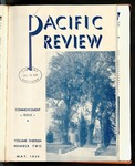 Pacific Review May 1939 (Commencement Issue)