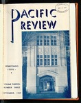Pacific Review September 1939 (Homecoming Issue) by Pacific Alumni Association