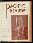 Pacific Review November 1940 by Pacific Alumni Association