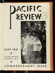 Pacific Review May 1941 (Commencement Issue) by Pacific Alumni Association