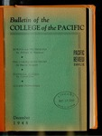 Pacific Review December 1948  (Bulletin of the College of the Pacific)
