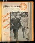 Pacific Review October 1951 (Bulletin of the College of the Pacific) by Pacific Alumni Association