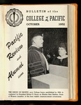 Pacific Review October 1952 (Bulletin of the College of the Pacific)