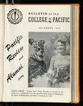 Pacific Review December 1957 (Bulletin of the College of the Pacific)