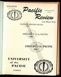Pacific Review January 1961 (Bulletin of the University of the Pacific) by Pacific Alumni Association