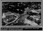 Aerial View: Aerial View, Civic Center, City Hall, Yacht Harbor, Civic Auditorium, Stockton, California K-241 by Wayne Paper Box and Printing Company