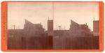 Stockton: (Fence, telephone pole, large building.)