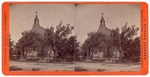 Stockton: (Church with steeple and cross, behind trees.)