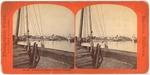 """Stockton: """"No. 489, Looking up the Harbor, Stockton, California."""""""