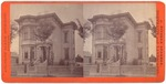 Stockton: (Large Victorian house with three adults in front.)