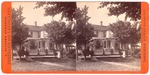 Stockton: (Horses and carriage in front yard of residence.)