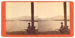 San Francisco: Russian Hill from Meiggs' Wharf (Man on dock by water.)