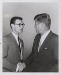 Moscone and John F. Kennedy, (circa 1962) by Unknown