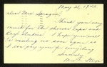Postcard from Mrs. H. Itaya to Claire D. Sprauge,May 28, 1942 by H. Itaya