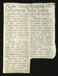 The Daily Tulean Dispatch, Clippings August to November by unknown