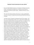 Meyer, Ursula interview by Robert Benedetti