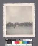 Baseball: panorama showing pitcher in wind-up by Richard Shizuo Yoshikawa