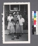 One man, 3 women, 2 girls by Richard Shizuo Yoshikawa