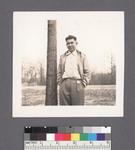 One man #30 [standing beside tree] by Richard Shizuo Yoshikawa