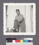 One man #32 [right foot on porch] by Richard Shizuo Yoshikawa