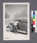 One man #36 [leaning against car] by Richard Shizuo Yoshikawa