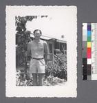 One man #39 [shirtless; in shorts] by Richard Shizuo Yoshikawa