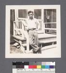 One man #43 [leaning on porch] by Richard Shizuo Yoshikawa