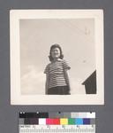 One woman #1 [striped t-shirt] by Richard Shizuo Yoshikawa