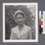 One woman #100 [in old-fashioned dress with lace bodice] by Richard Shizuo Yoshikawa